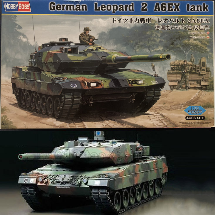1:35 German Leopard 2A6 Main Battle Tank DIY Plastic Assembling Model Toy