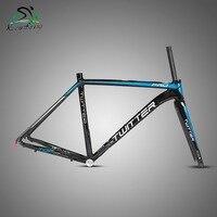 TwitterTW736 new road bike frame 700C with all carbon fiber front fork aluminum alloy inner wire frame
