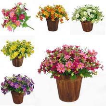 2019 New 28Heads/Bouquet Artificial Flowers Handmade Artificial Flower Party Wedding Home Resturant Bar Garden Decoration