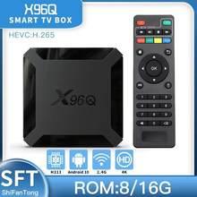 2021 New x96q Android 10 smart TV BOX H313 iptv Wifi Media 4k Player TV Receiver Android TV BOX vs x96q pro x96 mini Set Top Box