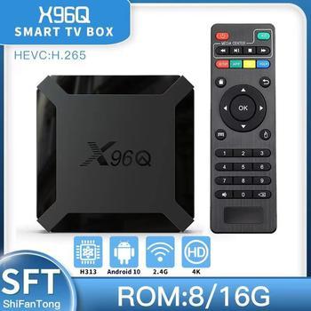 2021 nowy x96q Android 10 smart TV BOX H313 iptv Wifi Media 4k odtwarzacz odbiornik TV Android TV BOX vs x96q pro x96 mini zestaw Top Box tanie i dobre opinie abay 100 M CN (pochodzenie) Allwinner H313 8 GB eMMC 16 GB eMMC HDMI 2 0 1G DDR3 2G DDR3 Android 9 0 DC 5 V 2A 4K @ 60 Hz