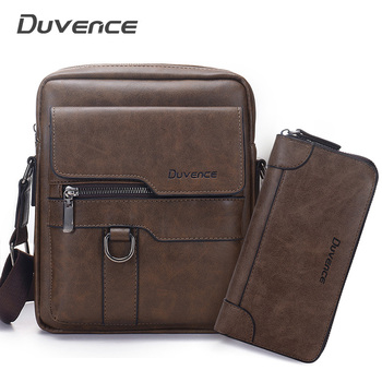 Brand Men Shoulder Bag for 10.4 inches Ipad PU Leather Business Men Messenger Bags Large Man Crossbody Bag Waterproof Travel Bag