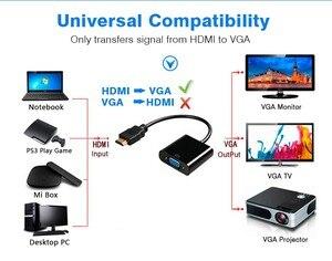 Image 3 - Hannord hdmi vgaアダプタhdmi vga変換アダプタ1080 1080p hdオスメスアダプタビデオオーディオpcラップトップ、タブレット、tvボックス
