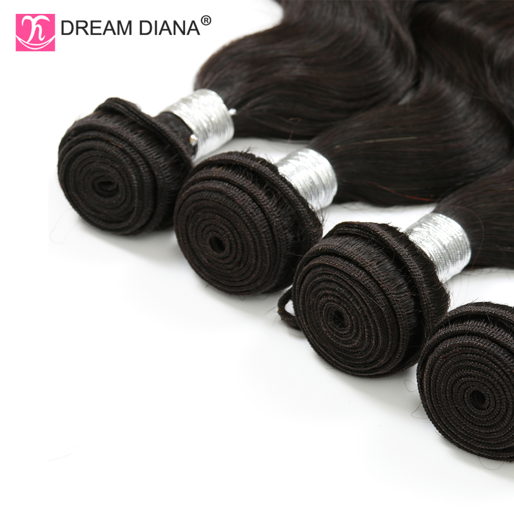 """Image 5 - DreamDiana Body Wave 1/3/4 Bundles 10"""" 30"""" L Brazilian Hair Bundles Natural Black Color Remy Weaving 100% Human Hair Extensions-in Hair Weaves from Hair Extensions & Wigs"""