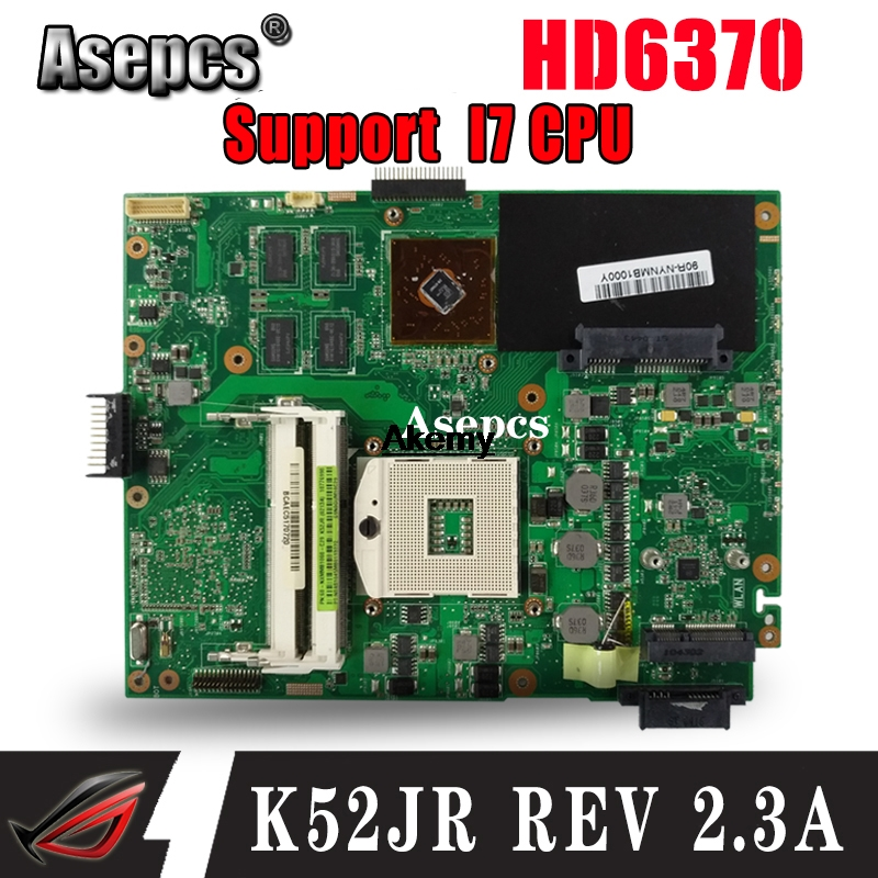 Asepcs K52JR REV2.3A Laptop Motherboard For ASUS K52JU K52JT K52JB K52JE K52J A52J X52J Test Original Mainboard HD6370 512M