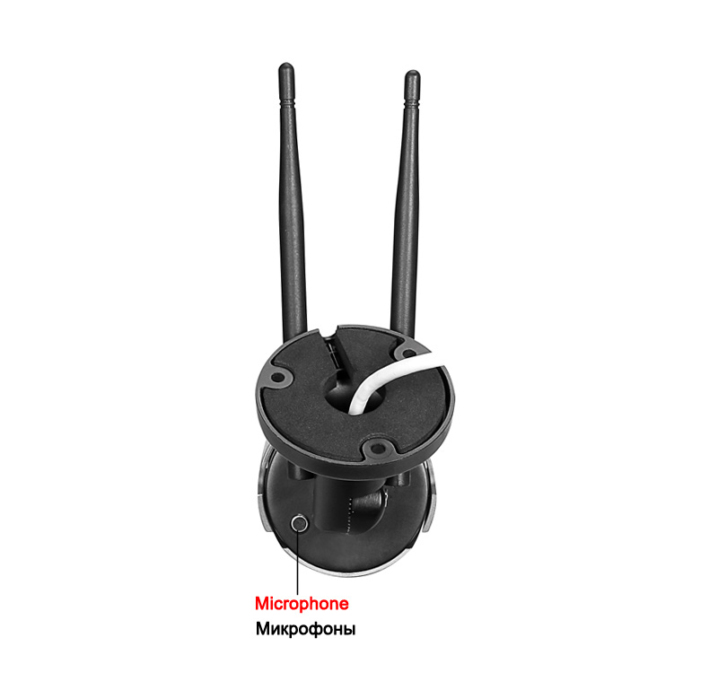 Image 5 - 5MP/3MP 36pcs infared Black H.265 ICsee 25fps 128G ONVIF Audio Two Antenna Waterproof WIFI Wireless IP Camera Free Shipping-in Surveillance Cameras from Security & Protection