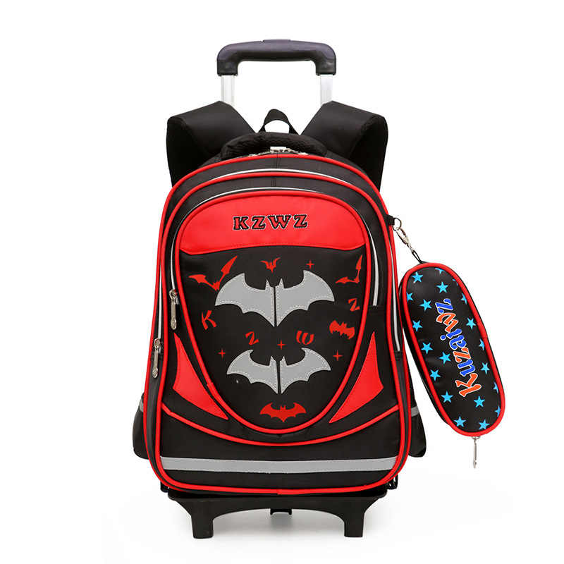 Lin Xuan Korean-style Children Three-Wheeled Trolley Bag Deconstructable Young STUDENT'S Boy 6-12-Year-Old with Pencil Case Palo
