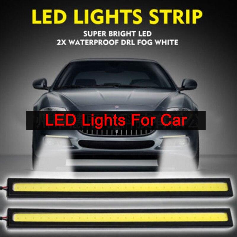 COB LED Strip Car 1pcs 17CM Universal Daytime Running Fog Lamp Driving Strip Light Flexible LED Bar Strip Waterproof Lights 6W