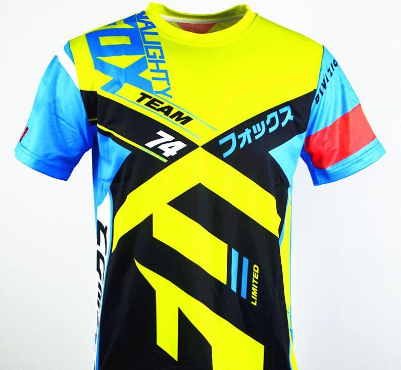 NAUGHTY FOX 360 Motocross Racing Jersey Off Road Mountain Bike Bicycle BMX ATV DH Cycling T-Shirts Motorcycle T shirt