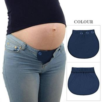 Pregnancy Waistband Belt Pants Maternity Adjustable Extended Button Pant Belts Elastic Pants Lengthening Pregnant Women Wear