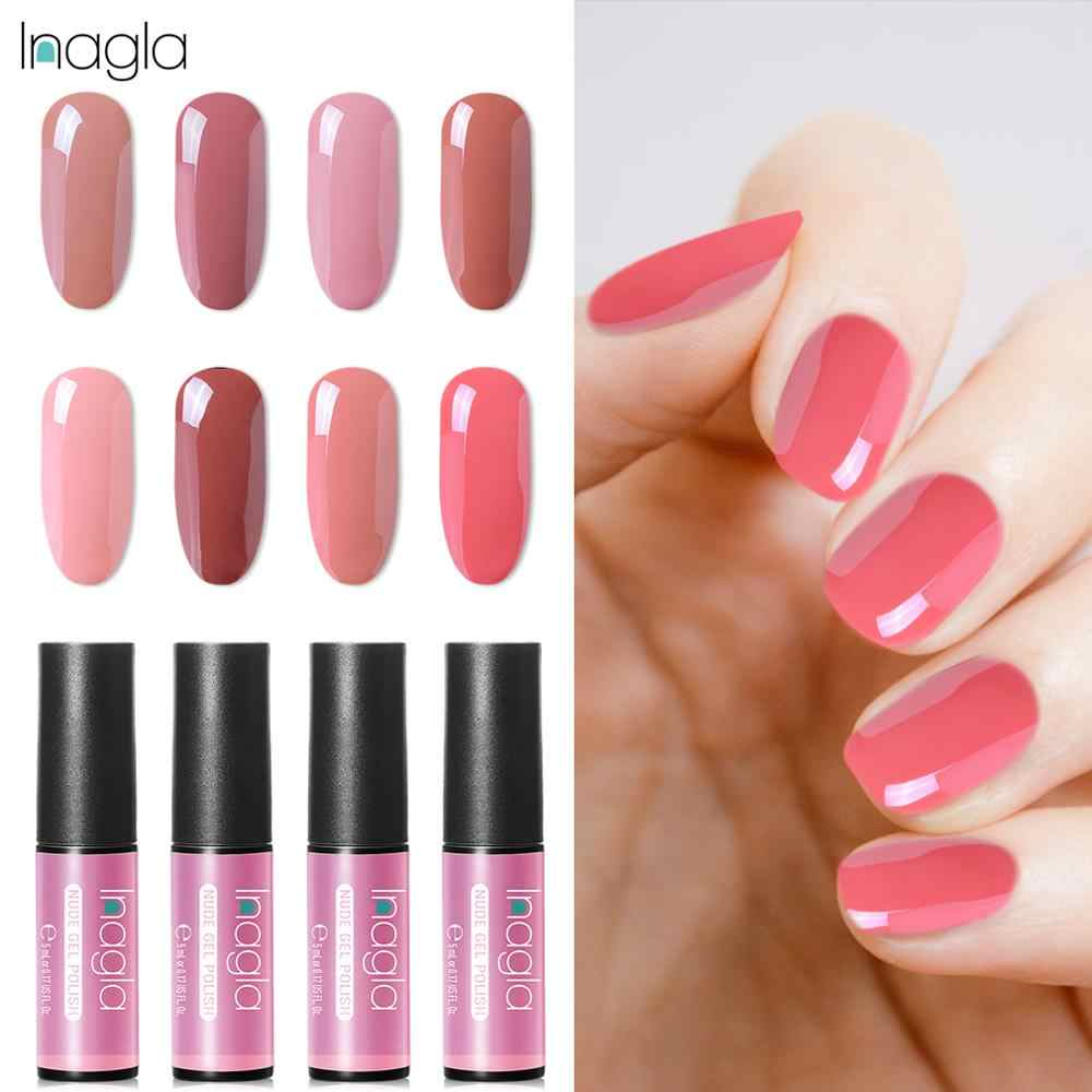 Inagla Gel Nail Polish UV Semi Permanent Hybrid Gellak Nude Colors Nail Polish Gel Varnish Gelpolish Lacquer 48 Colors