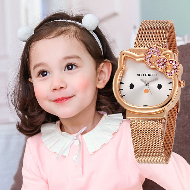 Hello Kitty Kids Watches Girls Cartoon Children Watch Waterproof  Analog Cute Quartz Clock  Relogio Infantil Menina Feminino