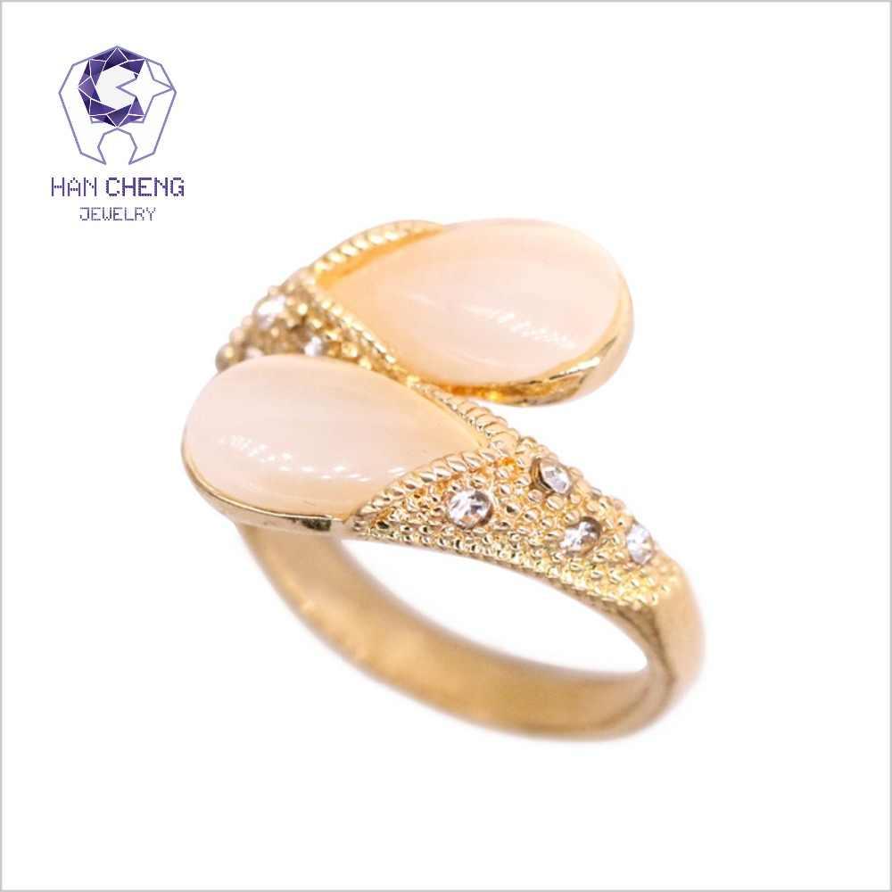 יוקרה מעד ואטארדרוף אופל טבעת זהב/כסף מצופה בציר תכשיטים טבעות לנשים ריינסטון טבעת Opale bague