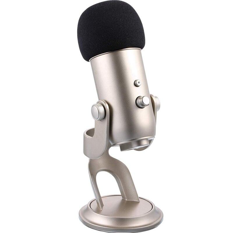 Mic Cover Sponge Microphone Windscreen For Blue Yeti, Yeti Pro Condenser Microphone (Black, 3 Pack)