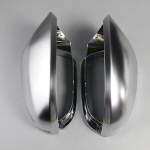Для Audi A6 C7 S6 2012 2013 2014 2015-2018 1 пара крышка зеркала заднего вида Защитная крышка Матовая серебристая, хромированная крышка зеркала