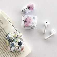 Funda de auriculares Art Flower para Apple Airpods 2 1 Air Pods fundas bonitas luminosas Vintage Floral cubierta para AirPod Pro Protector Shell