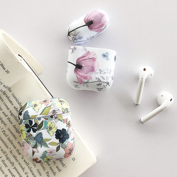 Art Flower Earphone Case For Apple Airpods 2 1 Air Pods Cases Cute Luminous Vintage Floral Cover For AirPod Pro Protector Shell