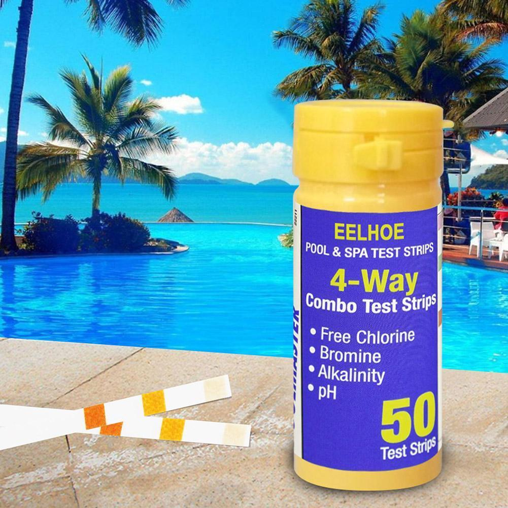 Household goods swimming pool swimming water pH chemical test strip E6I1