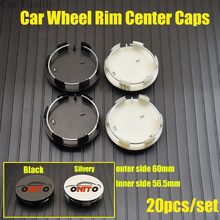 Wheel-Hub Peugeot Center-Caps Emblem-Covers Rims 60mm Hot Car for 3008/4007 20pcs/Set