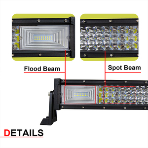"Image 5 - Auxtings 22"" 32"" 42"" 52""inch Led Light Bar Work Light 7D led bar 3 Row 4x4 Truck ATV Car Offroad Driving Straight Light Bar"