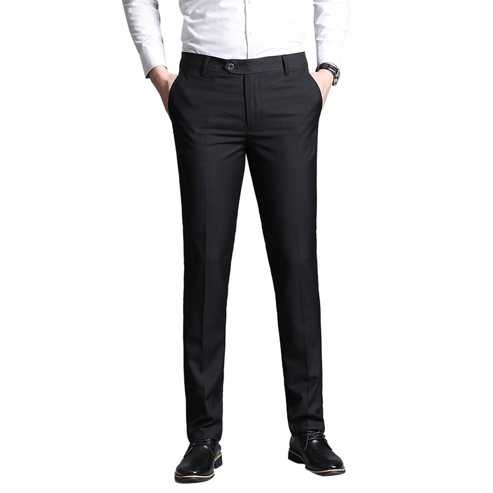 Men Formal Dress Pants Slim Fit Fashion Formal Business Solid Color Pant Casual Man Trousers Wedding Groom Prom Trouser