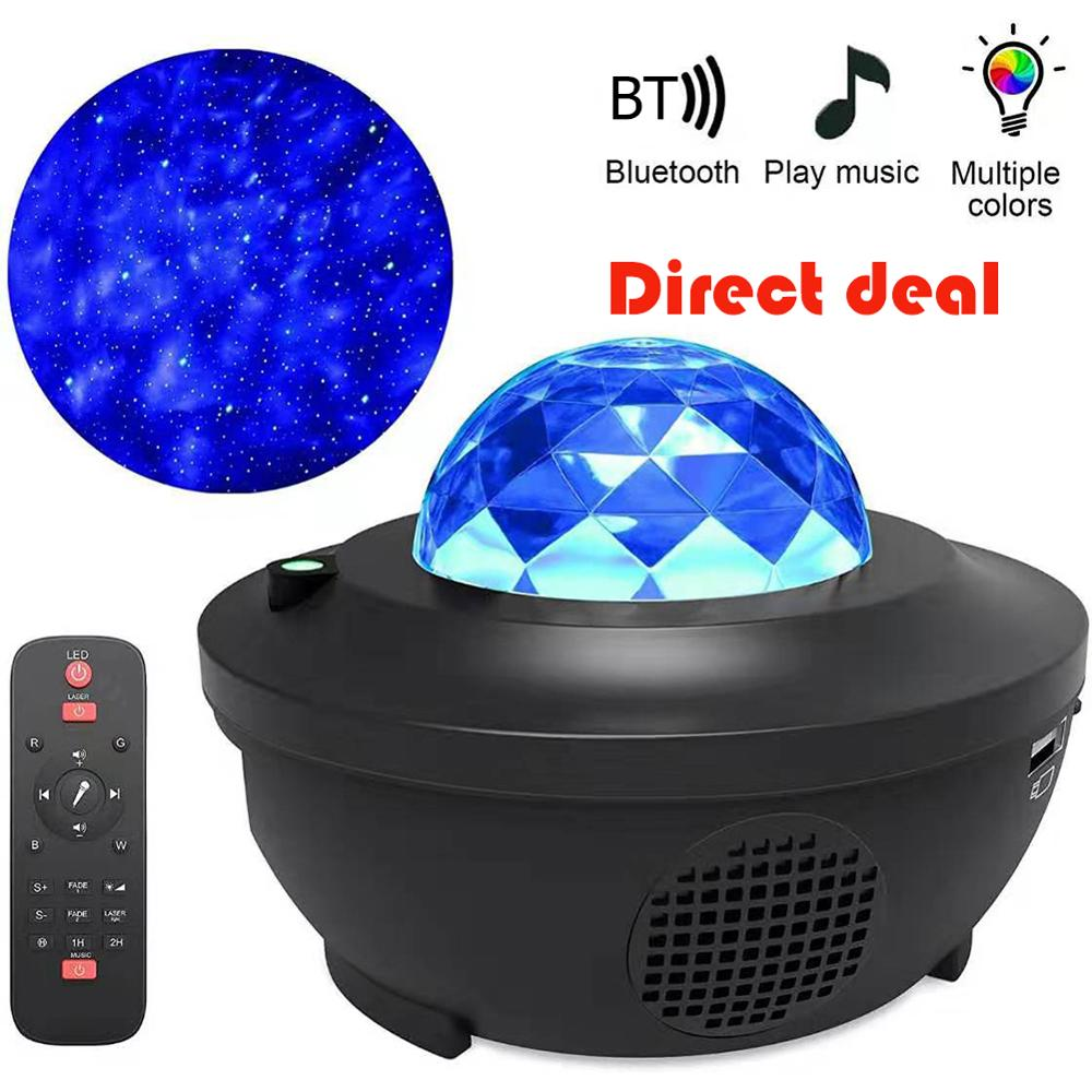 Sky Light Colorful Starry Sky Projector LED Night Lights Blueteeth USB Voice Control Music Player USB Charging Projection Lamp