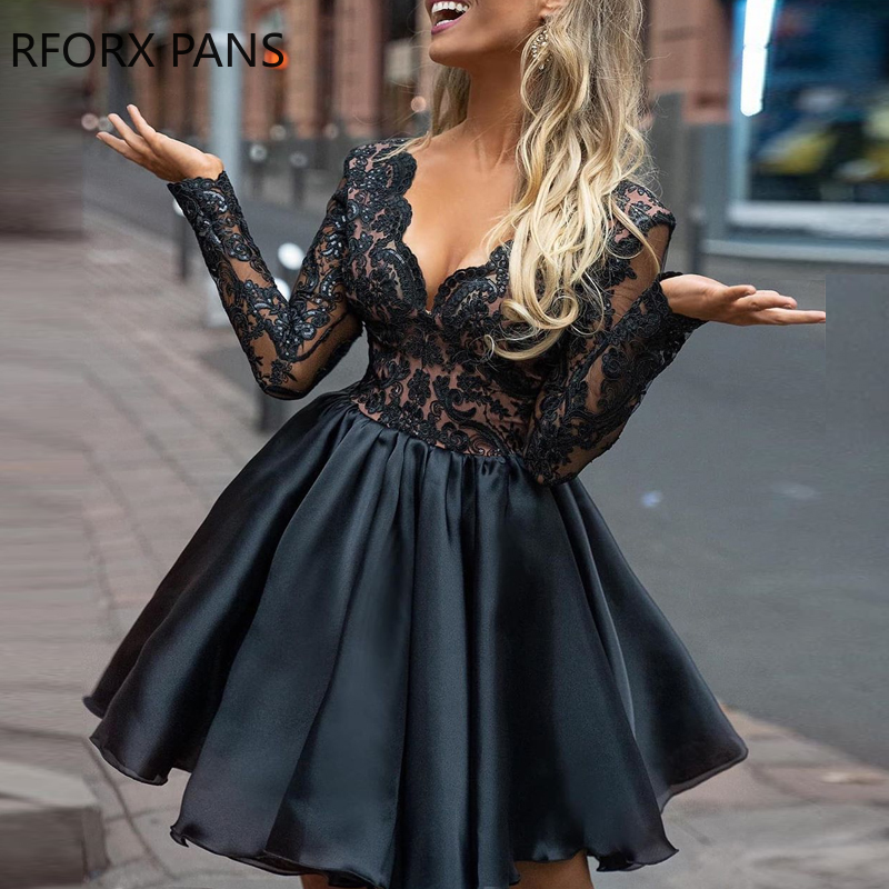 Sheer Lace Top Mini Dress Bodycon Dresses Sexy Dress  Women Dress