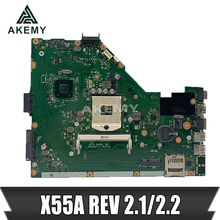 Akemy X55A Laptop motherboard für For Asus X55A NoteBook Computer Test original motherboard HM70 REV 2.1/2,2