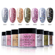 Azure Beauty Holographic Glitter Dipping Powder Nail Art Gradient Color Dip Without Led Lamp Dry