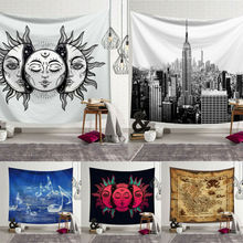 цена на AA 1PC Tapestry Sun and Moon Boho Tapestry Hippie Wall Hanging Bedspread Throw Cover Home Decor