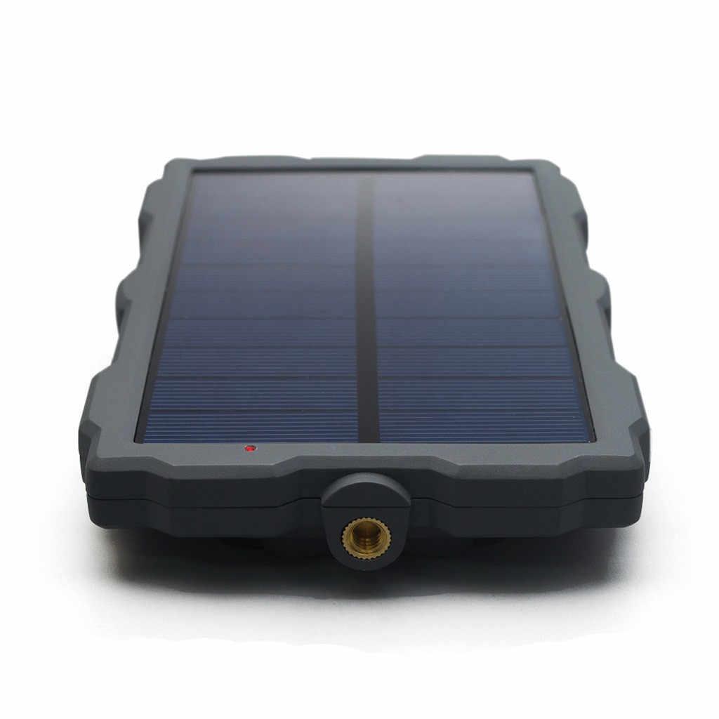 ソーラーパネル 12 12v ソーラー充電器パワーバンク 1500 mah 充電式内蔵リチウム電池 6 ソーラーパネル狩猟カメラ