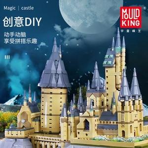 MOULD KÖNIG Film streetview sets Schule Schloss modell setzt Gebäude Modell Blöcke Ziegel Kinder Pädagogisches Spielzeug Weihnachten Geschenke
