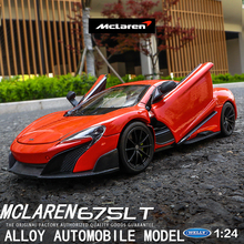 welly 1:24  McLaren 675LT super run car decoration collection gift toy Die casting model boy