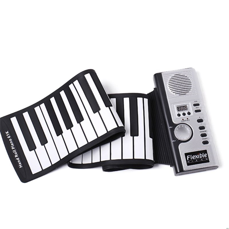 Portable Roll Up 61 MIDI Soft Keys Flexible Electronic Piano Music Keyboard New-in Piano from Sports & Entertainment    1