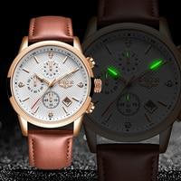 LIGE 2020 nowy zegarek moda męska Sport zegarek kwarcowy męskie zegarki marki luksusowy skórzany wodoodporny zegarek biznesowy Relogio Masculino
