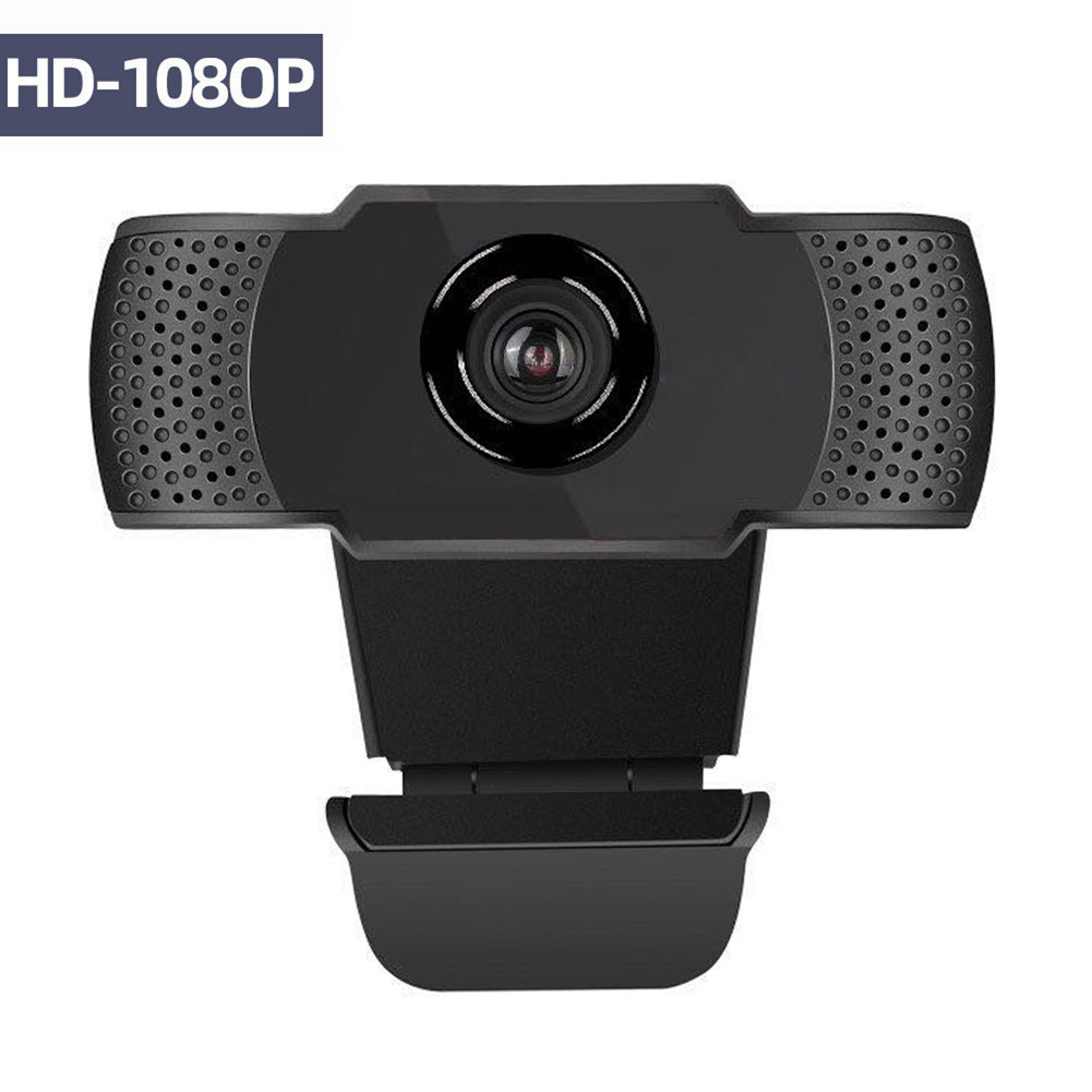 1080P Web Cam USB Webcam HD 200 Megapixel PC Camera with Absorption Microphone for Skype for Desktop Laptops PC Game Cam image