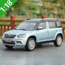 1:18 alto meticuloso Skoda YETI SUV modelo de aleación coche Static Metal modelo vehículos con caja Original