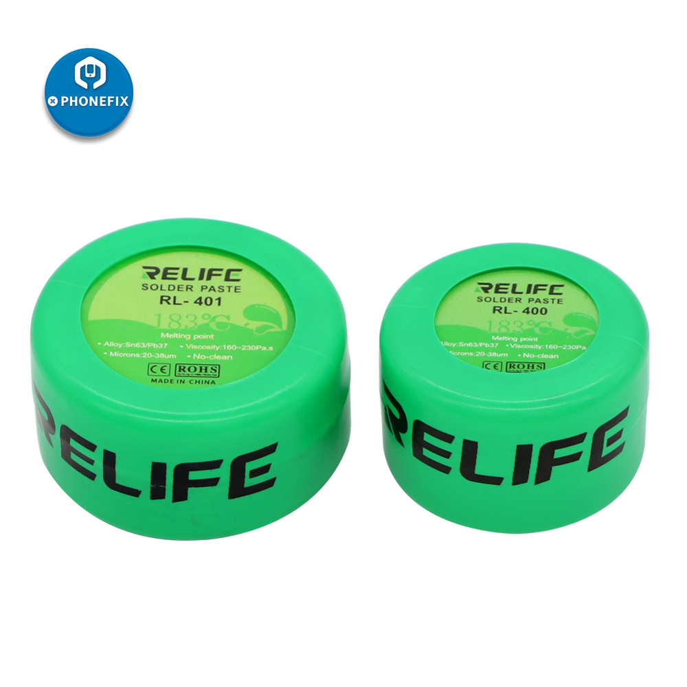 Soldering Paste Flux Relife RL 401 400 Solder Tin Sn63/Pb67 For Soldering Iron Circuit Board SMT SMD Repair Tool 183 Degree
