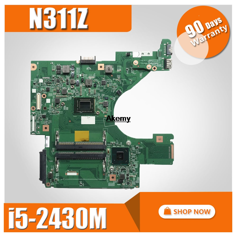 N311Z motherboard CN-0D0JVM 0D0JVM D0JVM 10321-1 48.4ND01.011 <font><b>I5</b></font>-<font><b>2430M</b></font> For DELL N311Z Laptop Motherboard tested 100% work image