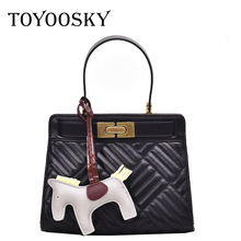 TOYOOSKY Fashion Women Handbag PU Leather Messenger Bags With Horse Toy Female Shoulder Ladies Small Office Handbags