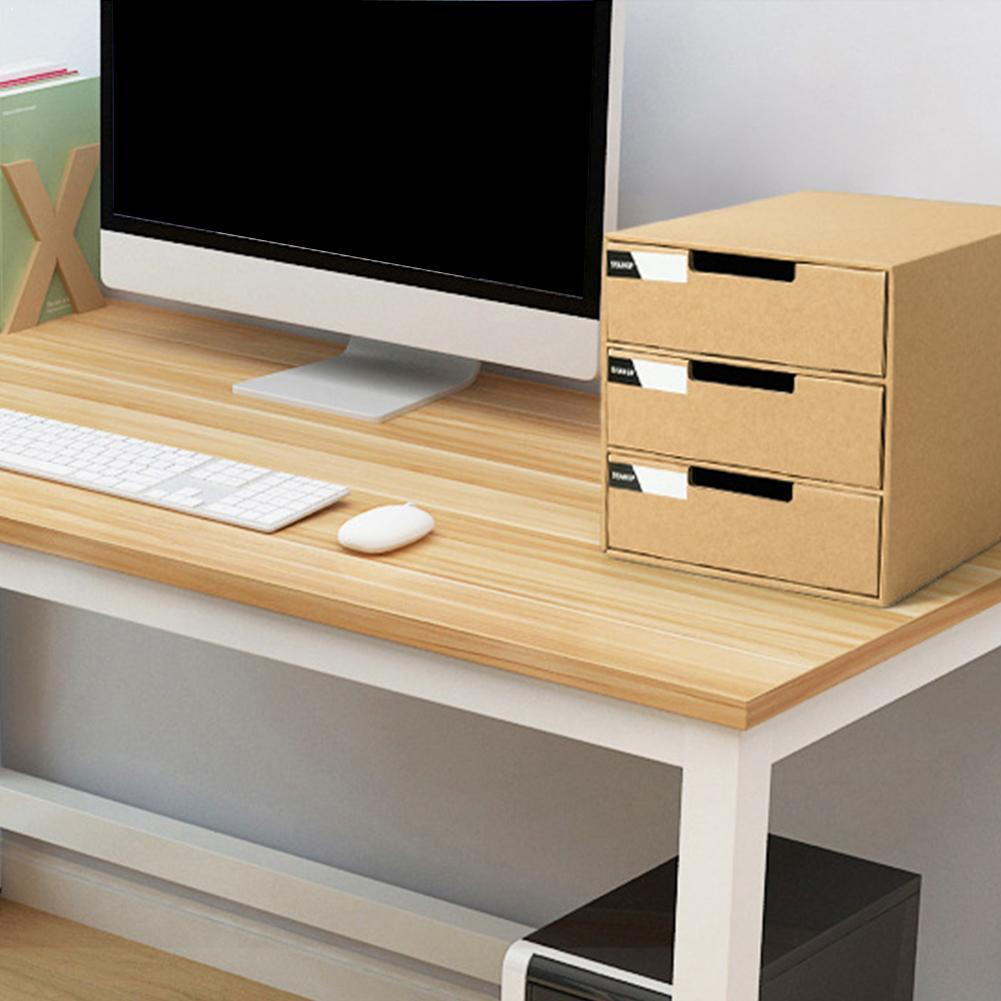 Desktop File Storage Finishing Box Multi-layer DIY Holder File Stationery Cabinet Drawer Organizer Paper Cabinet Desk Offic K7Z2