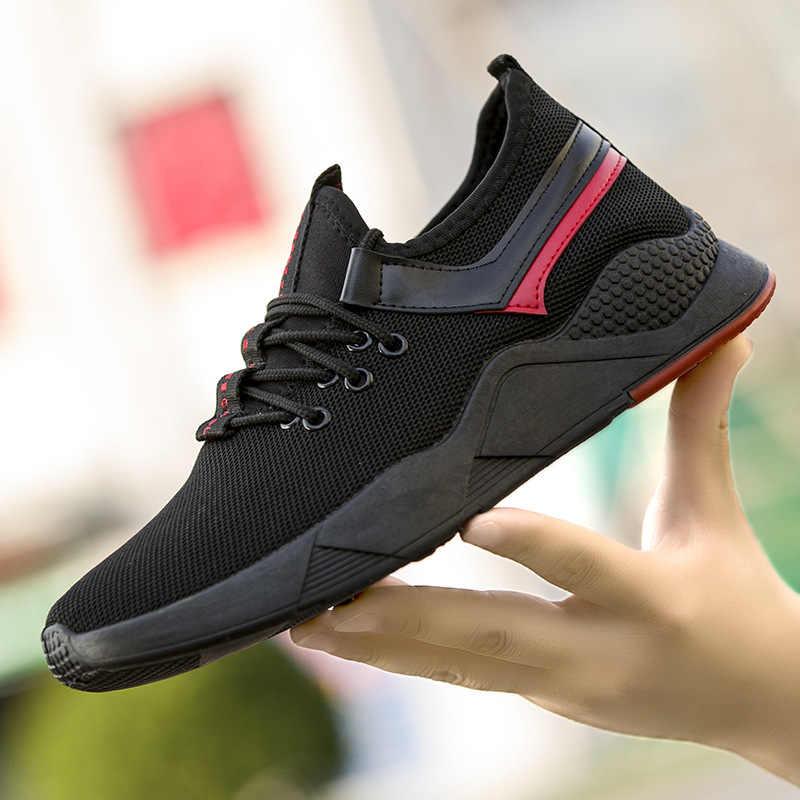Moda yaz erkek vulkanize ayakkabı koşu ayakkabıları erkekler için rahat konfor spor ayakkabı erkek ayakkabısı dantel-up Tenis Masculino