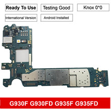 32GB Original For Samsung Galaxy S7 edge G935FD G935F S7 G930F Motherboard With Chips IMEI OS Good Working Logic Board