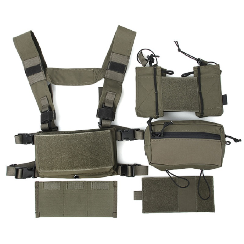 TMC Hunting Tactical Airsoft Vest Modular Chest Rig Set TMC3115-RG