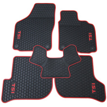 цена на waterproof rubber HK right-hand steering wheel car floor mats for Volkswagen Golf 5/6 Scirocco with GTI/TSI/R/R/GOLF logo