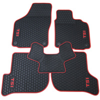 free shipping rubber HK right hand steering wheel car floor mats for Volkswagen Golf 5/6 Scirocco with GTI/TSI/R/R/GOLF logo