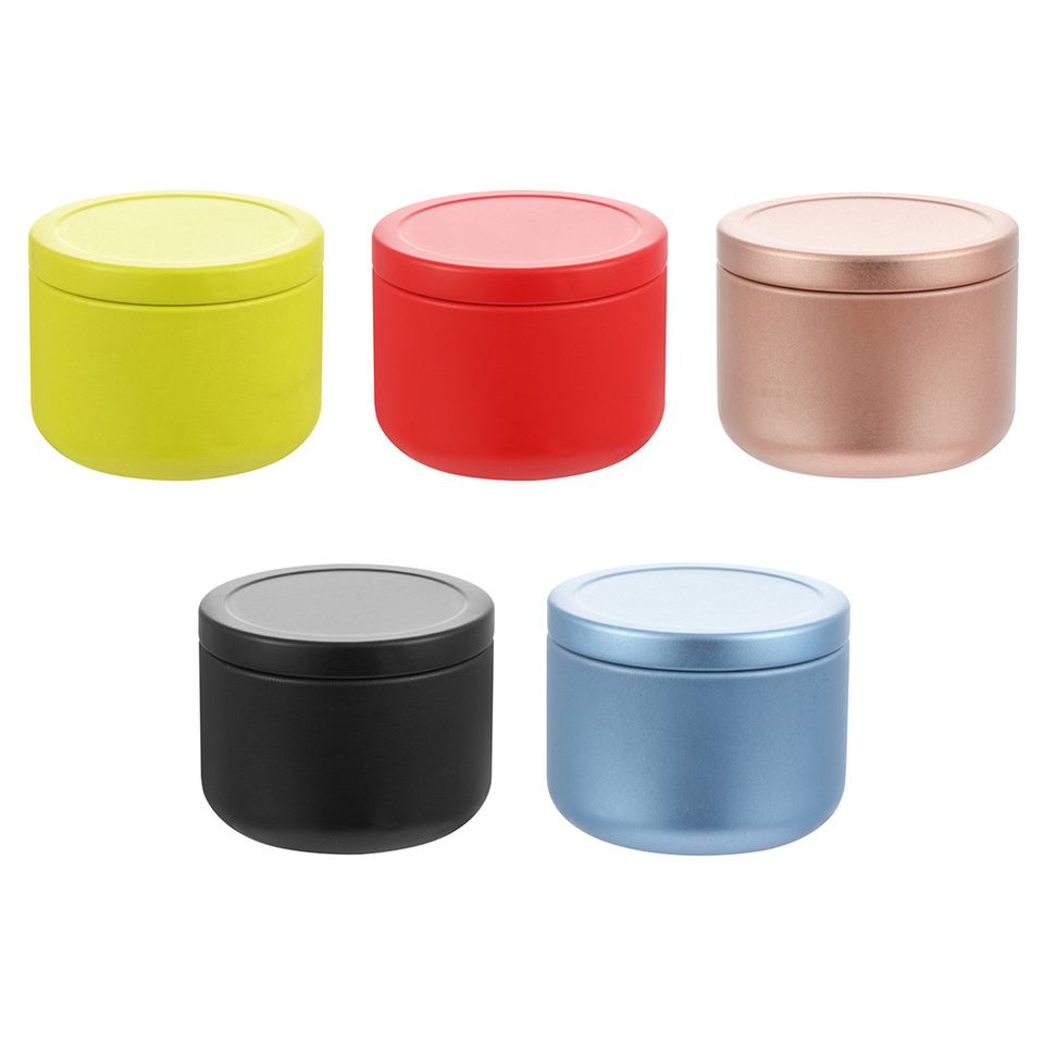 Mini Multifunction metal Airtight Matcha Canister Tea Powders Caddy Container