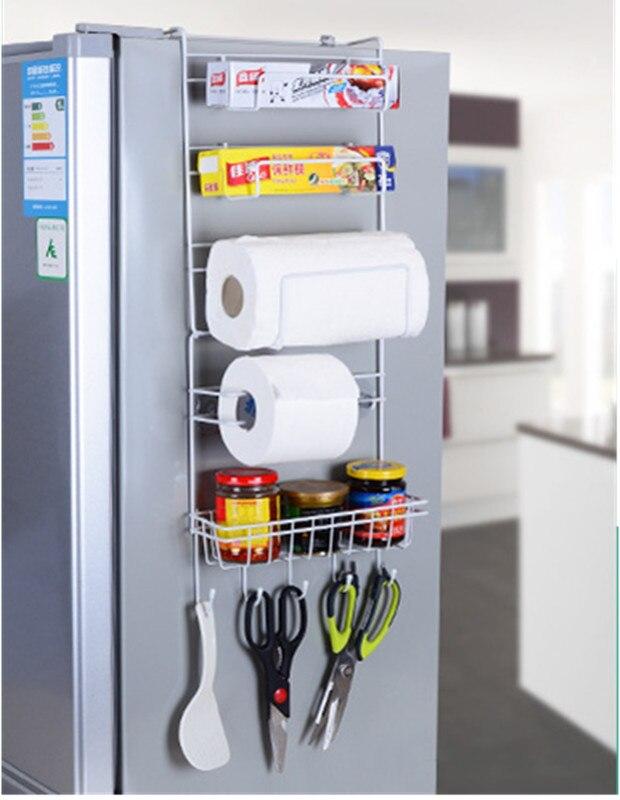 Multifunctional Kitchen Supplies Organizer Household Refrigerator Rack Side Shelf Sidewall Holder Multi-layer Fridge Storage