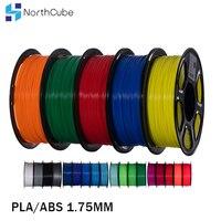 Filamento per stampante 3D NorthCube PLA/ABS/PETG 1.75MM 343M/10M10Colors 1KG materiale plastico per stampa 3D per stampante 3D e penna 3D