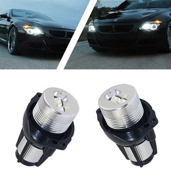 2pcs LED Angel Eyes Marker Light Bulbs Auto Fog Lamp Decorative Lights Error Free Car Lamps 12V 6000K For BMW 3 Series E90 E91 image
